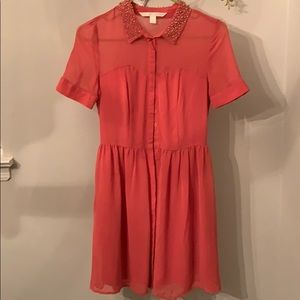 Lauren Conrad sheer button up dress. NWOT